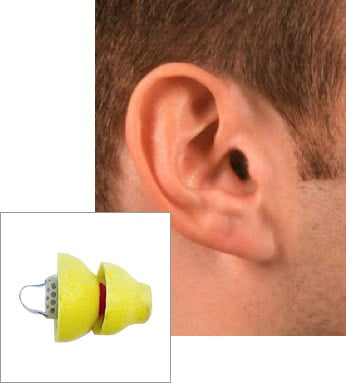 Phonak Lyric Extended Wear Hearing Aids in Man's Ear