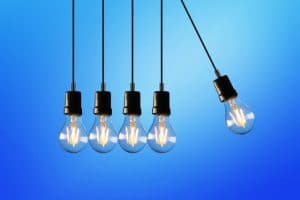 string of light bulbs