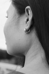Close-up of a woman's ear